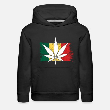 420 Hemp Leaf Cannabis Lover Stoners Birthday Flag - Kids' Premium Hoodie