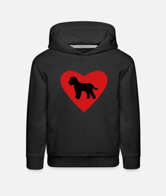 Cockapoo Dogs Hoodies & Sweatshirts - Cockapoo Dog Love - Kids' Premium Hoodie black
