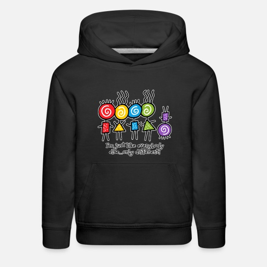 Down Hoodies & Sweatshirts - Same Only Different - Kids' Premium Hoodie black