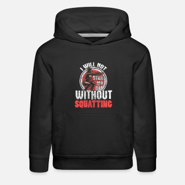 Power Squats dumbbell workout gift idea - Kids' Premium Hoodie