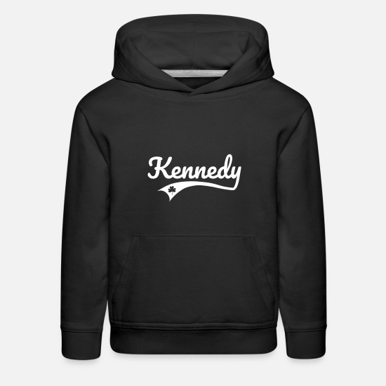 Lucky Clover Hoodies & Sweatshirts - Kennedy Irish Heritage, Lucky Shamrock - Kids' Premium Hoodie black