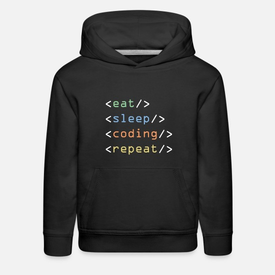 Computer Science Hoodies & Sweatshirts - Eat Sleep Program - Kids' Premium Hoodie black