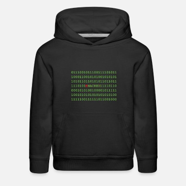 Binary Hacker Binary - Kids' Premium Hoodie