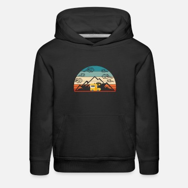 Lamp Retro Vintage Camping Tee For Campers Van - Kids' Premium Hoodie