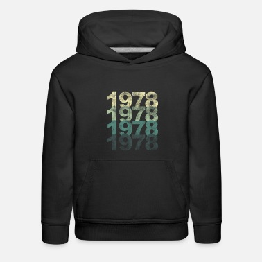 Year Of Birth 1978 birthday year of birth old school vintage - Kids' Premium Hoodie