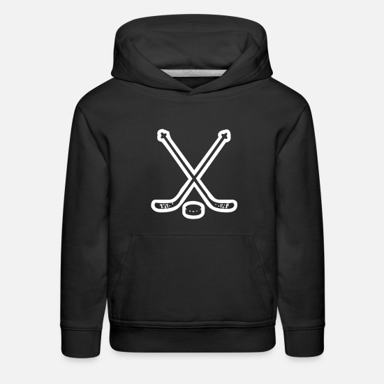 Hockey Hoodies & Sweatshirts - A Pair Of Hockey Sticks - Kids' Premium Hoodie black