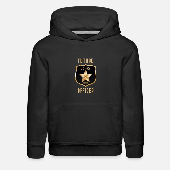 Aesthetic Hoodies & Sweatshirts - Cute Future Police Officer Funny Dream Job Kids - Kids' Premium Hoodie black
