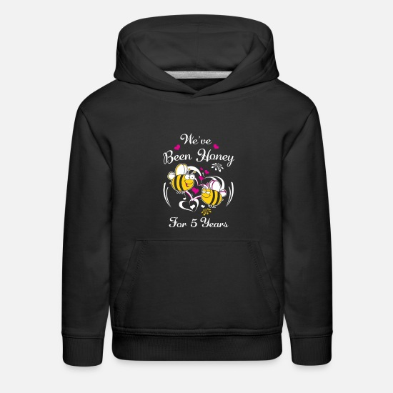 Anniversary Hoodies & Sweatshirts - We've Been Honey For 5 Years Wedding Anniversary - Kids' Premium Hoodie black