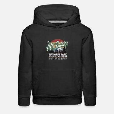 National Classic Vintage Mount Rainier National Park - Kids' Premium Hoodie