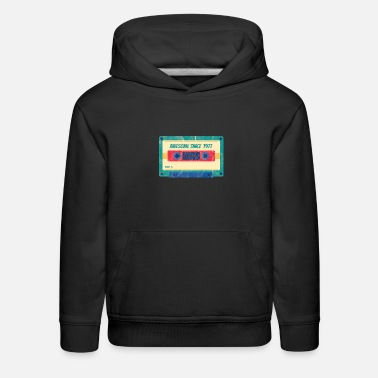 Year Of Birth 42nd Birthday Celebration Gift Awesome Since 1977 - Kids' Premium Hoodie