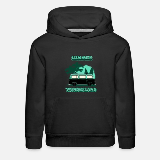 Outdoor Hoodies & Sweatshirts - Summer Wonderland Road Trip - Kids' Premium Hoodie black