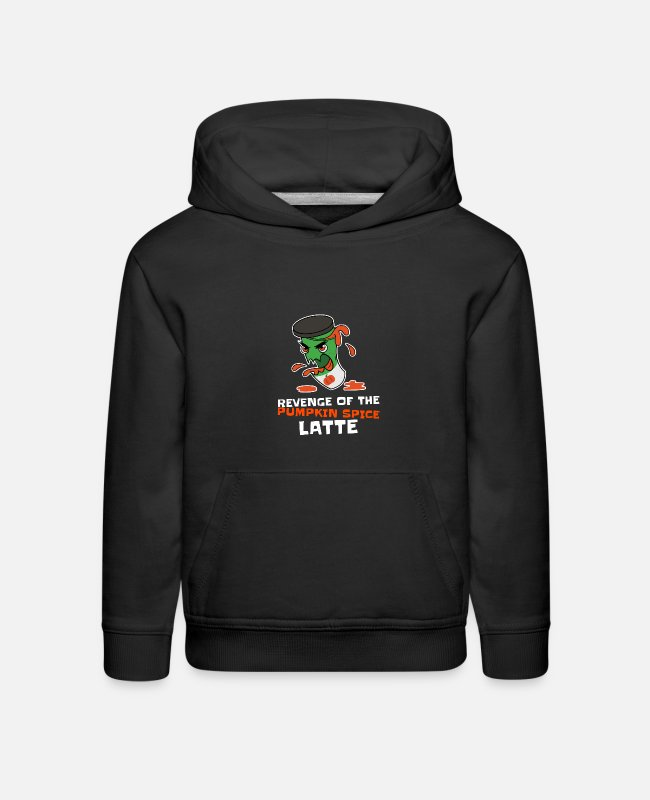 Design Hoodies & Sweatshirts - kawaii style t shirt design template with an angry - Kids' Premium Hoodie black