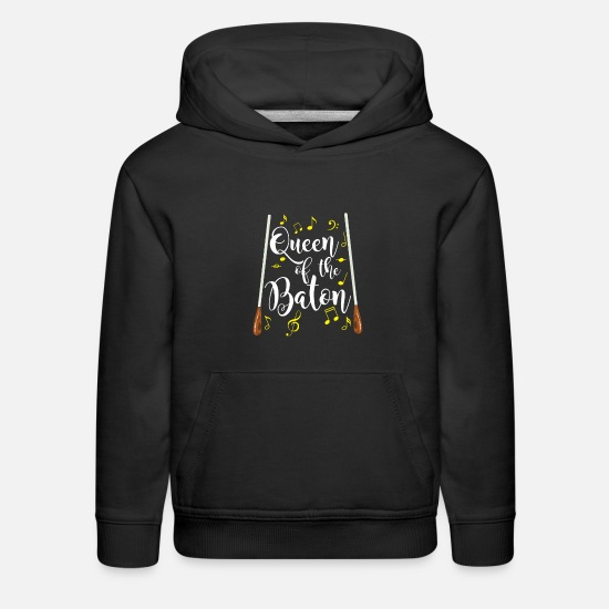 Orchestra Hoodies & Sweatshirts - Queen Of The Baton Choir Teacher Director - Kids' Premium Hoodie black
