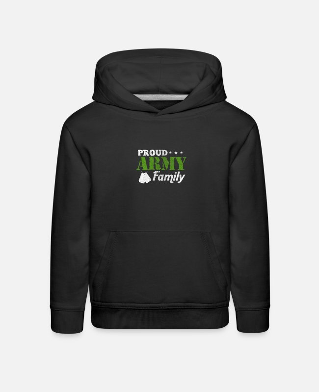 Vietnam Hoodies & Sweatshirts - Proud Army Family Veteran Veterans Day - Kids' Premium Hoodie black