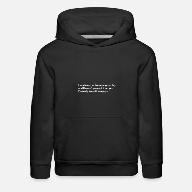 Pickup Line Swallowed an icecube Funny phrase. ideal gift idea - Kids' Premium Hoodie