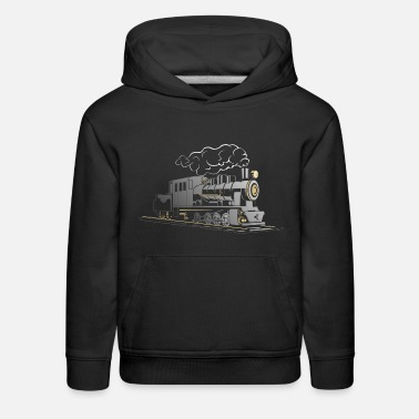 Steam Engine Steam locomotive - Train - steam engine - Kids' Premium Hoodie