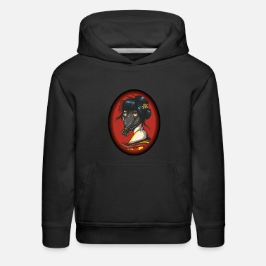 Steam Engine Steampunk Lady - Gas Mask Geisha - Kids' Premium Hoodie