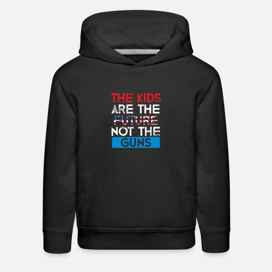 Voice Hoodies & Sweatshirts - The Kids are the future not the guns with us flag - Kids' Premium Hoodie black