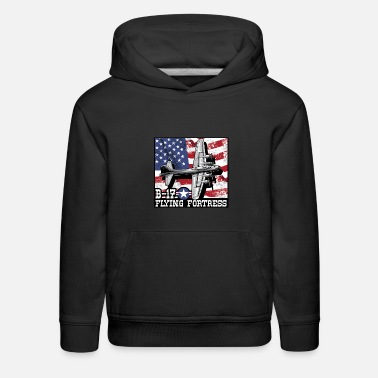 Aviation B17 Flying Fortress Bomber WW2 Airplane Air force - Kids' Premium Hoodie
