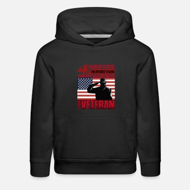 Volunteered Veteran T Shirt, Veteran T Shirt - Kids' Premium Hoodie