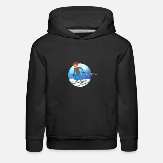Racing Hoodies & Sweatshirts - skiing - Kids' Premium Hoodie black