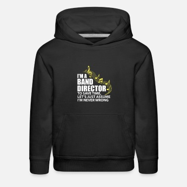 Double Blues I'm A Band Director Funny Musician Music Lover - Kids' Premium Hoodie