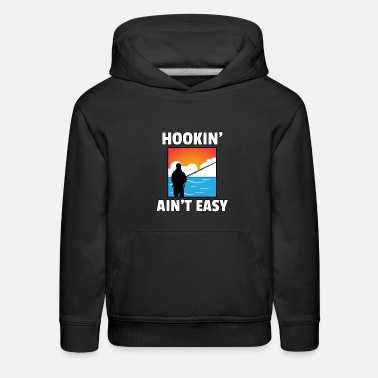 Sayings Fishing rod Catch Fish Fisherman Papa Dad Gift - Kids' Premium Hoodie