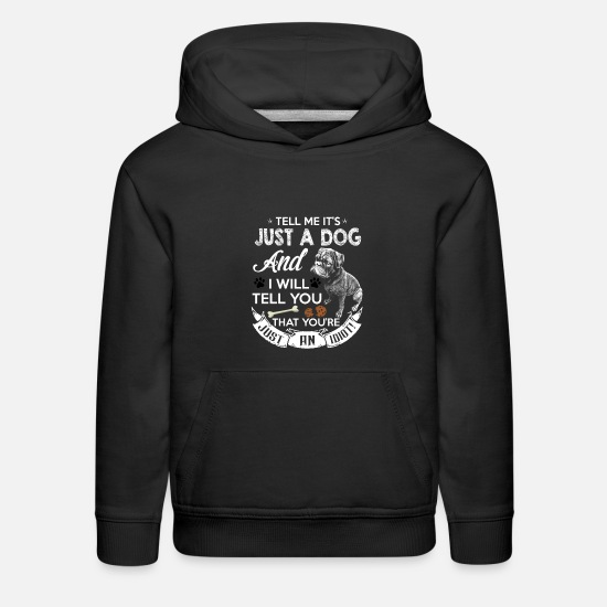 Lover Hoodies & Sweatshirts - DOG - Kids' Premium Hoodie black
