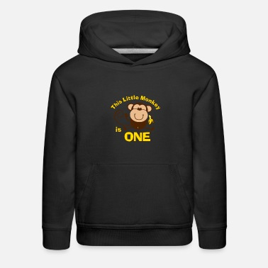 Birthday 1st Birthday Monkey Boy - Kids' Premium Hoodie