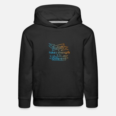 Adhd Autism Awareness Day Asperger's Syndrome Parents - Kids' Premium Hoodie