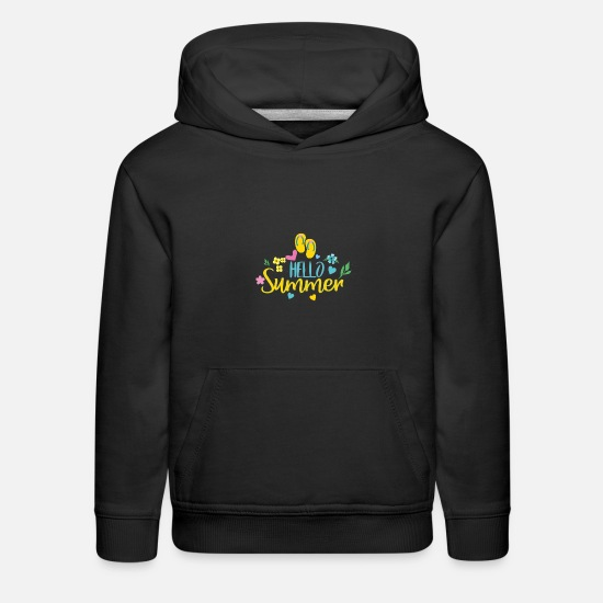 Hello Hoodies & Sweatshirts - Hello Summer - Kids' Premium Hoodie black