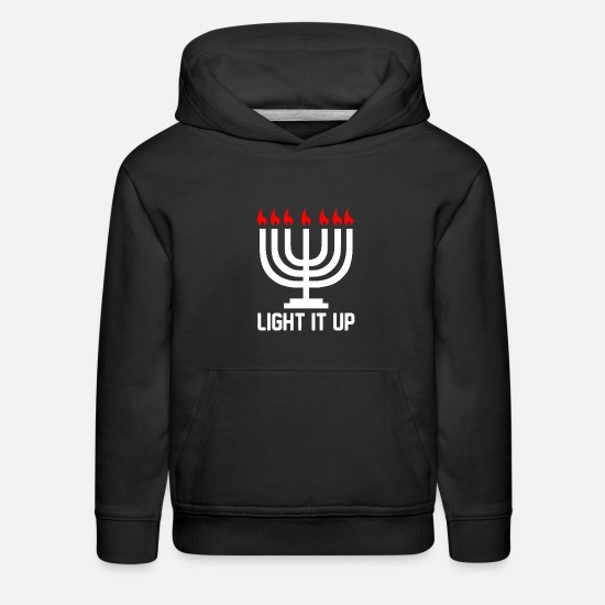 Up Hoodies & Sweatshirts - Light it Up - Kids' Premium Hoodie black