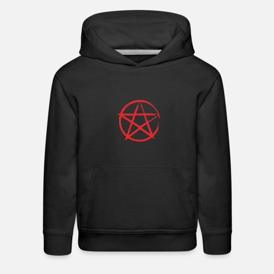 Star Of David Hoodies & Sweatshirts - Star in Circle - Kids' Premium Hoodie black