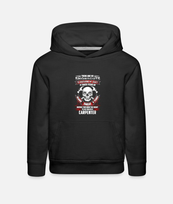 Master Hoodies & Sweatshirts - Funny Carpenter Profession - Kids' Premium Hoodie black
