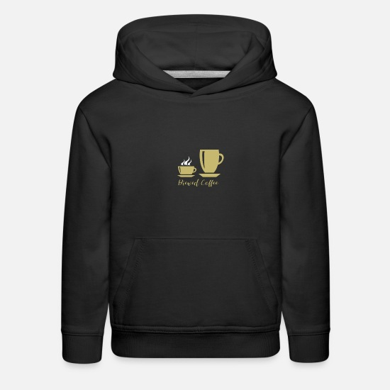 Coffee Bean Hoodies & Sweatshirts - Brewed Coffee - Kids' Premium Hoodie black