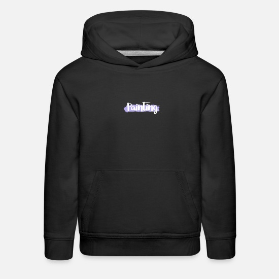 Paint Brush Hoodies & Sweatshirts - Painting Brushes - Painting, Drawing, Painter - Kids' Premium Hoodie black
