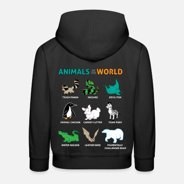 Tiger Pony Graphic Wildlife Humor Animals - Kids' Premium Hoodie