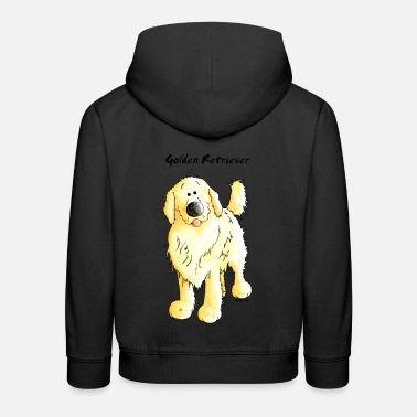 Cute Golden Retriever Cute Golden Retriever - Kids' Premium Hoodie