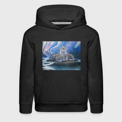 WOLVES OF THE NORTHERN LIGHTS - Kids' Premium Hoodie