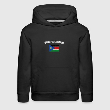 South Sudan Flag Shirt - Vintage South Sudan T-Shi - Kids' Premium Hoodie