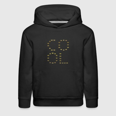 cool king queen profi love TECHNO DJ ELECTRO - Kids' Premium Hoodie