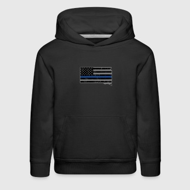 South Dakota Police & Law Enforcement Thin Blue Line - Kids' Premium Hoodie