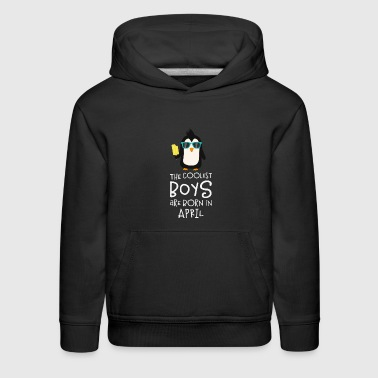 Coolest Boys Birthday in APRIL Skn4r - Kids' Premium Hoodie