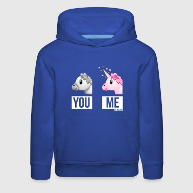 SmileyWorld You Me Horse Vs Unicorn - Kids' Premium Hoodie