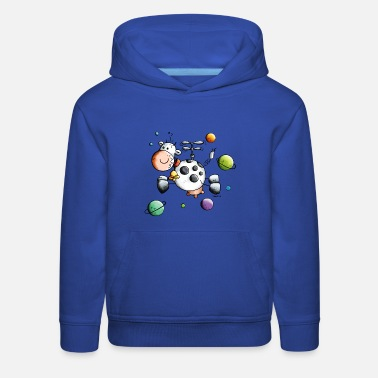 Cow Space Cow - Astronaut - Planet - Comic - Gift  - Kids' Premium Hoodie