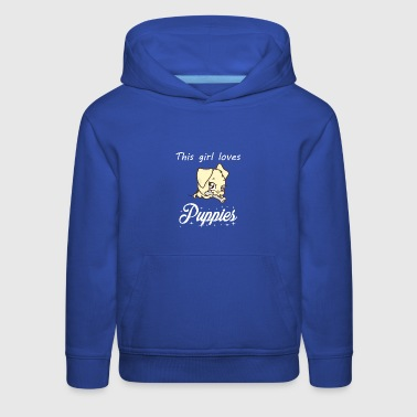 This girl love puppies - Kids' Premium Hoodie
