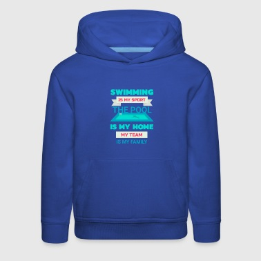 Swimming Is My Sport Fun Swim Team Pool 25m Bahn - Kids' Premium Hoodie