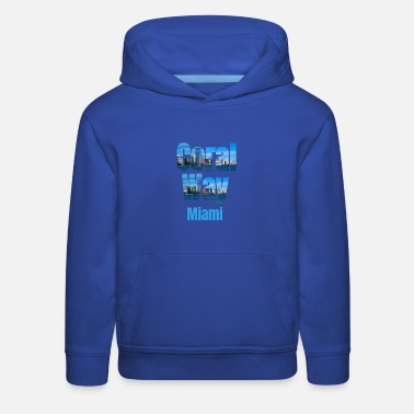 The Golden State Coral Way Miami, United States, Country Tourist Gifts - Kids' Premium Hoodie