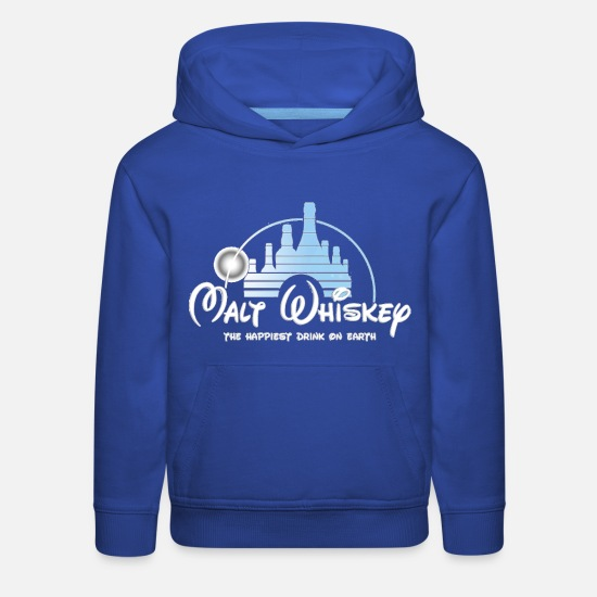 Whiskey Hoodies & Sweatshirts - Malt Whiskey The Happiest Drink On Earth - Kids' Premium Hoodie royal blue