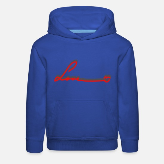 Love Hoodies & Sweatshirts - Love - Kids' Premium Hoodie royal blue